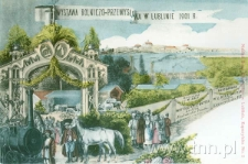 widokówka z widokiem terenów Wystawy Rolniczo-Przemysłowej w 1901 roku