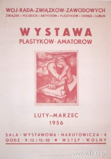 Plakat wystawy Plastyków Amatorów