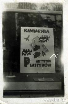 witryna Kawiarni Artystycznej w Lublinie