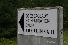Wejście do bylego obozu zagłady w Treblince