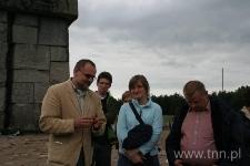 Uczestnicy seminarium na terenie byłego obozu zagłady w Treblince