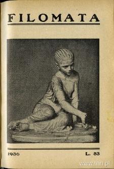 Filomata, 1936 r.- w numerze pierwsza publikacja Anny Szternfinkiel