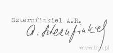 Anna Szternfinkiel - podpis na dokumentach z uczelni w Verviers