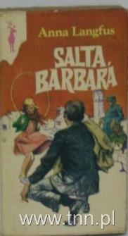 """Okładka hiszpańskiego wydania książki Anny Langfus """"Saute, Barbara"""" (Skacz, Barbaro)"""