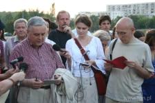"""Lipcowy spacer trasą """"Poematu o mieście Lublinie"""" i czytanie Czechowicza, 3o.07.2007"""