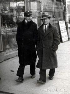 Leon Szefler z kuzynem Lasotą