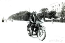 Michał Szefler na motocyklu
