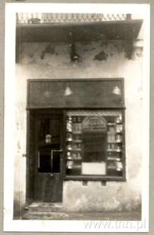 Sklep Samuela Wajnfelda przy Cyruliczej 1/ Lubartowskiej 7 (dawniej 33)