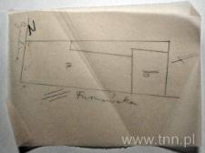 Plan sytuacyjny domu przy ul. Cyruliczej 6 (obecnie 8)/ Furmańskiej 8