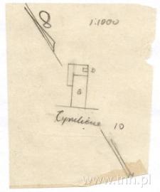 Plan sytuacyjny domu przy Cyruliczej 10