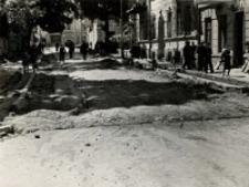 Przebudowa ulicy Ewangelickiej w Lublinie - przed budową