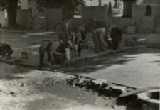 Przebudowa ulicy Ewangelickiej w Lublinie - układanie klinkieru