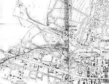 """WIeniawa - fragment """"Planu Wielkiego Miasta Lublina"""" z 1931 roku"""