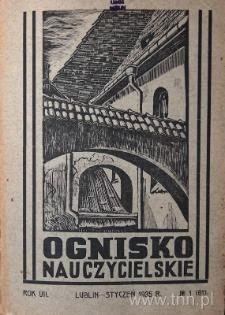 """Okładka czasopisma """"Ognisko Nauczycielskie"""" nr 1/1935"""