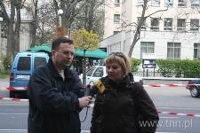 """Iza Skórzyńska udziela wypowiedzi dla Radia Lublin - """"Listy do Henia"""" 2007"""