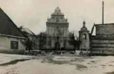 Widok kościoła św. Agnieszki z ulicy Okolnej w Lublinie