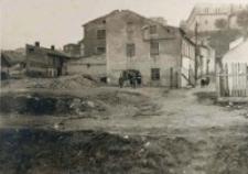 Plac Krawiecki w pierwszej fazie regulacji