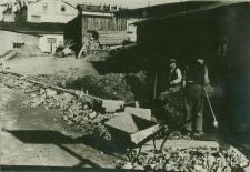 Wykonywanie deptaka miedzy ulicą Szeroką i ulicą Nadstawną