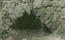 Widok na odkryte sklepienie w murze fundamentów w kościele św. Michała