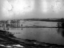 Kalinowszczyzna, w czasie powodzi w Lublinie w 1947 roku. Fotografia