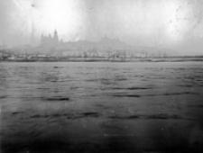 Rzeka Bystrzyca w czasie powodzi Lublina w 1947 roku. Fotografia