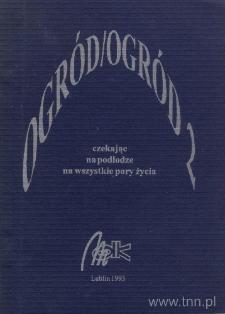 """Okładka tomiku wierszy grupy Ogród zatytułowanego """"Czekając na podłodze na wszystkie pory życia"""""""