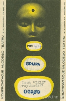 Karta uczestnictwa w Konfrontacjach Młodego Teatru - awers