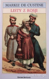 """Okładka książki """"Listy z Rosji"""" Markiza de Custine"""
