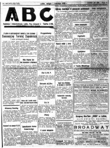 """Strona z gazety """"ABC : pismo codzienne : informuje wszystkich o wszystkiem"""", R. 5, nr 148 (147)"""
