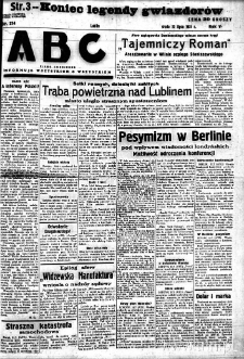"""Strona z gazety """"ABC : pismo codzienne : informuje wszystkich o wszystkiem"""", R. 5, nr 214"""