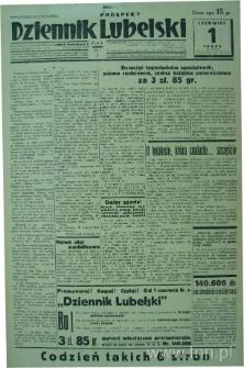 """Strona z gazety """"Dziennik Lubelski"""", R. 1, nr 1"""