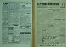 """Strony z gazety """"Dziennik Lubelski"""", R. 1, nr 1"""