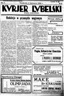 """Strona z """"Kurjera Lubelskiego"""", R. 10, nr 91"""
