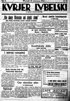 """Strona z """"Kurjera Lubelskiego"""", R. 10, nr 169"""
