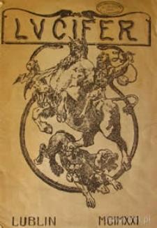 Lucifer : miesięcznik literacki R. 1, nr 1 (okładka)