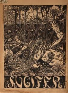 Lucifer : miesięcznik artystyczno- literacki R. 2, nr 2-4 (okładka)