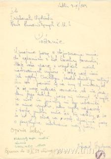 Podanie E. Stachury, KUL