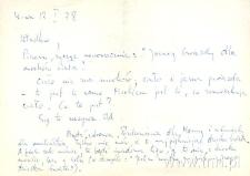 Kartka E. Stachury do W. Zossel