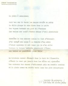 """Przekład wiersza J. Czechowicza """"deszcz w concarneau"""""""