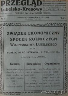 """Strona czasopisma """"Przegląd Lubelsko-Kresowy"""", R. 1, nr 2"""