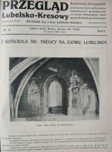 """Strona czasopisma """"Przegląd Lubelsko-Kresowy"""", R. 1, nr 4"""