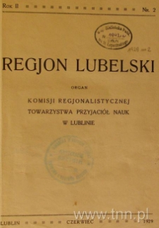 "Strona z czasopisma ""Regjon Lubelski"""
