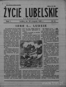 Życie Lubelskie - Tygodnik, R. 1 (1935), nr 10