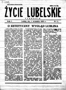 Życie Lubelskie - Tygodnik, R. 1 (1935), nr 11