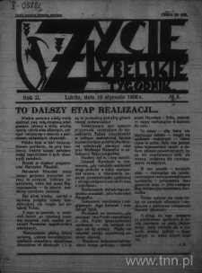 Życie Lubelskie - Tygodnik, R. 2 (1936), nr 3
