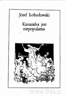 """Okładka książki """"Kassandra jest niepopularna"""""""