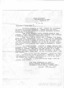List P. Borkowskiego do siostry J. Łobodowskiego
