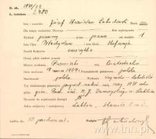 Dokumentacja dotycząca J. Łobodowskiego z Archiwum Uniwersyteckiego KUL