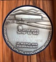 The medal Righteous Among the Nations for Czesława Chojnacka
