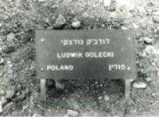 A commemorative plaque of the Ludwik Golecki, Jerusalem